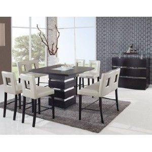 Global Furniture Dining Room Set Frosted Wenge Base Only Global
