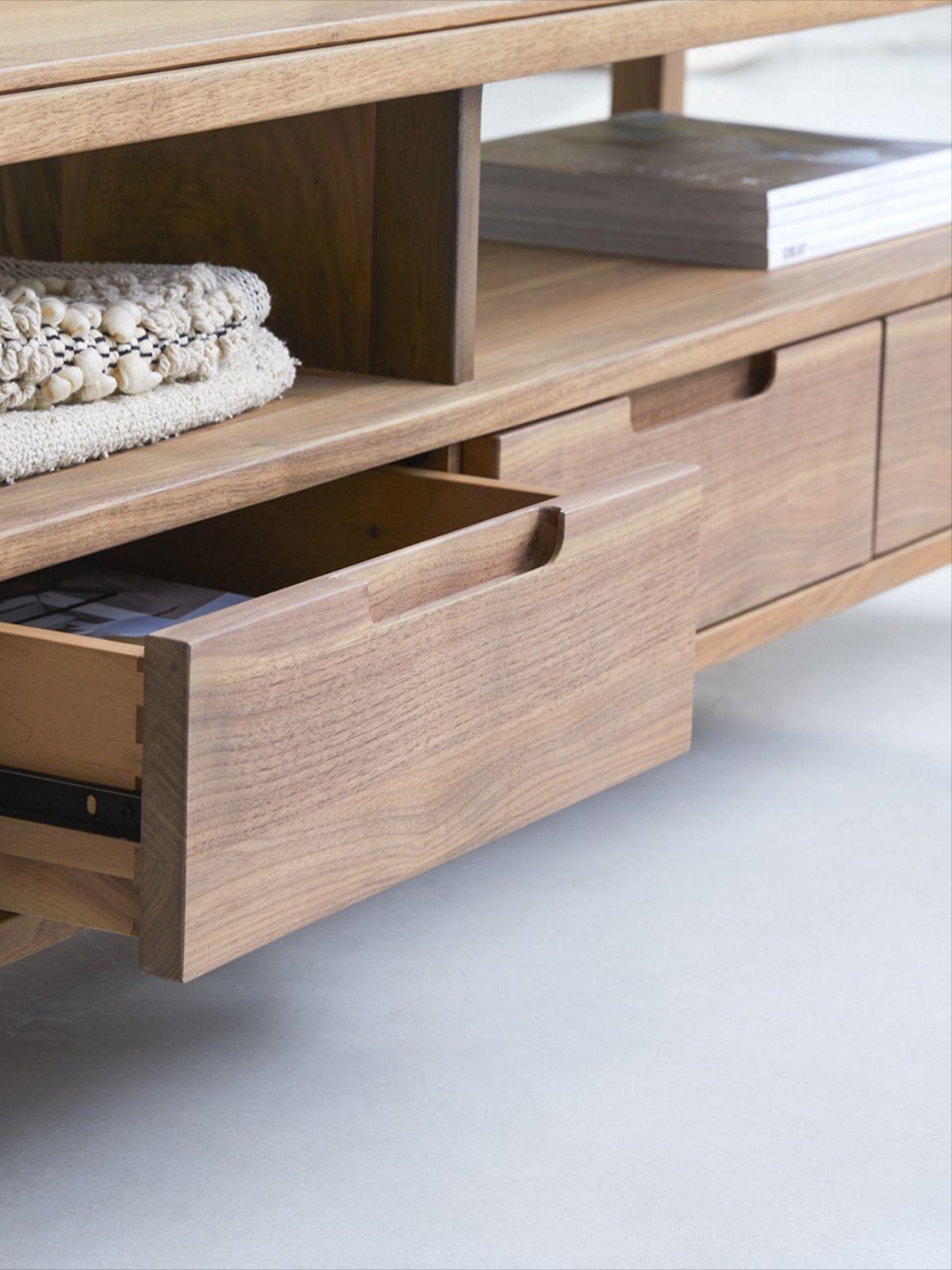 meuble tv en noyer 180 cm mobilier de
