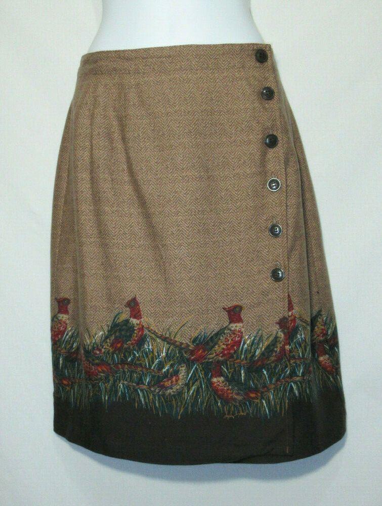 1af51fd21 Unique Preppy Vintage Pheasant Print Cambridge Dry Goods Lined Mini Wrap  Skirt #CambridgeDryGoods