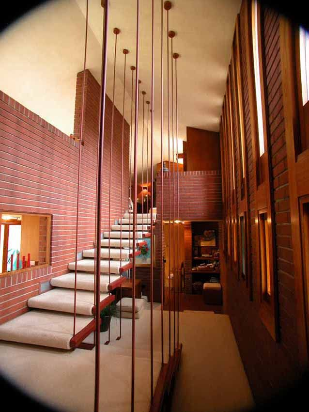 Ive Been In This House.Its A Block Away From My Parents In South Bend  Indiana.I Love The Floating Staircase! This Is A Frank Lloyd Wright House.