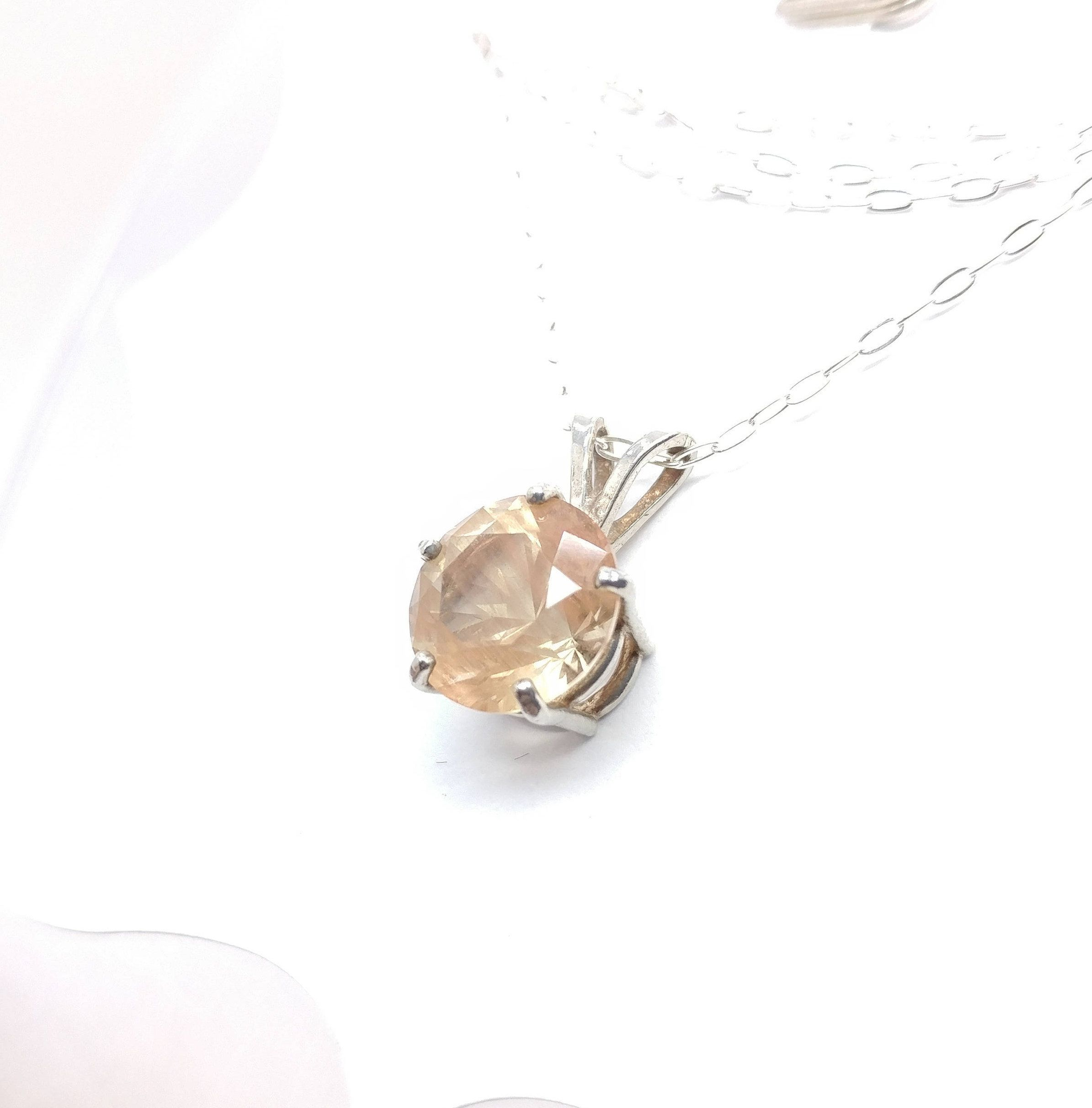 druzy sunstone necklace long product pendant jkonikoff