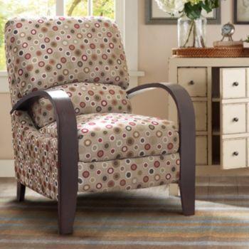 Madison Park Bent Arm Recliner Chair, Bent Wood Arm Recliner