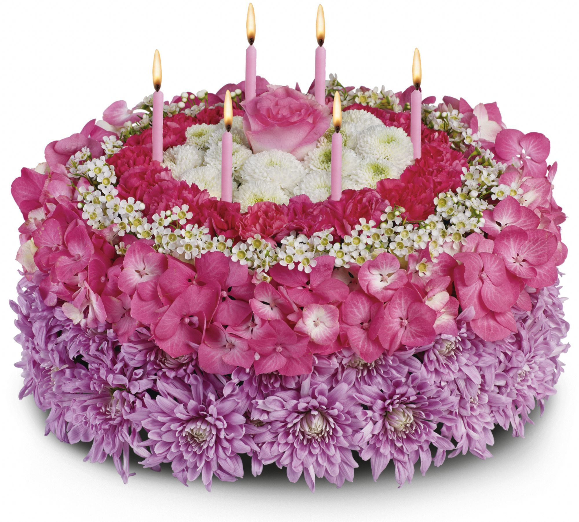 Your special day flower arrangement a fake cake pinterest your special day flowers make a wish instead of a calorie packed cake send the birthday star a birthday cake of flowers izmirmasajfo Images