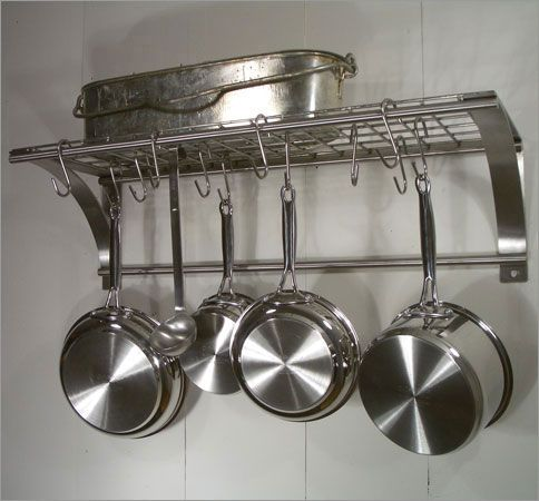 Photo of Rainsford Gale Epicure Stainless Steel Wall Pot Rack