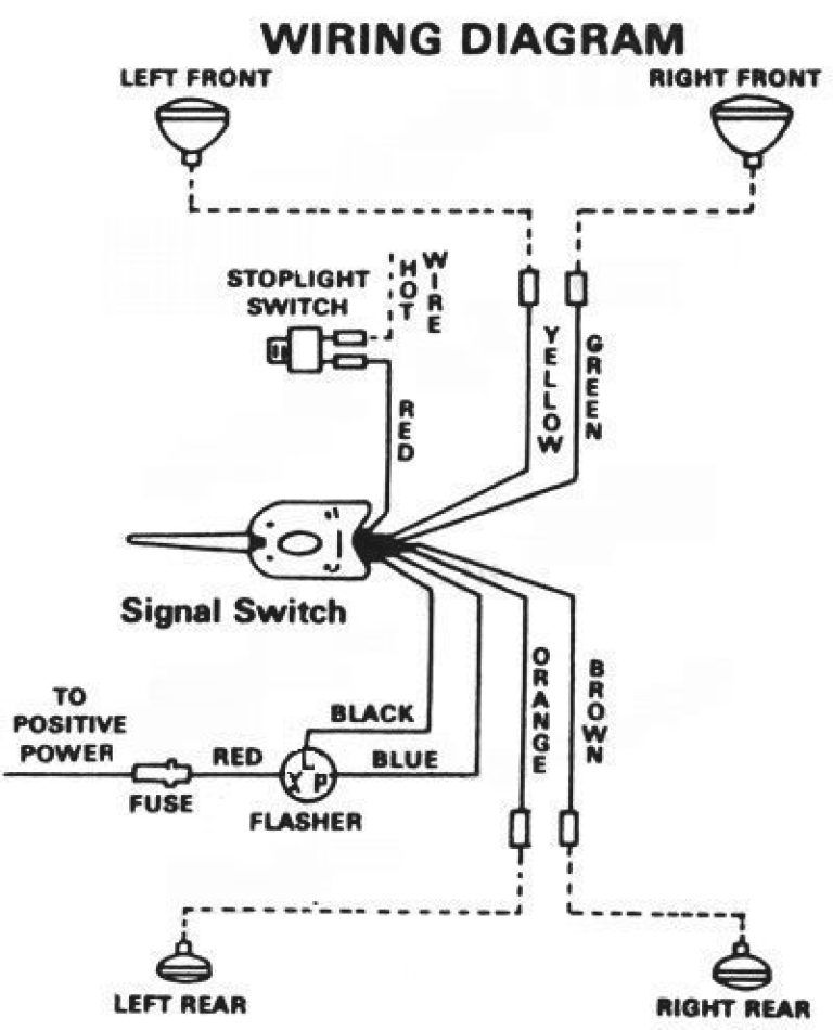 universal turn signal switch wiring diagram fitfathers me in 3 prong turn signal flasher wiring 1970s dodge truck steering column fix
