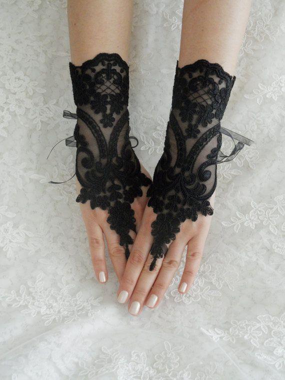 FREE SHIP --- Wedding gloves, bridal gloves, fingerless ...