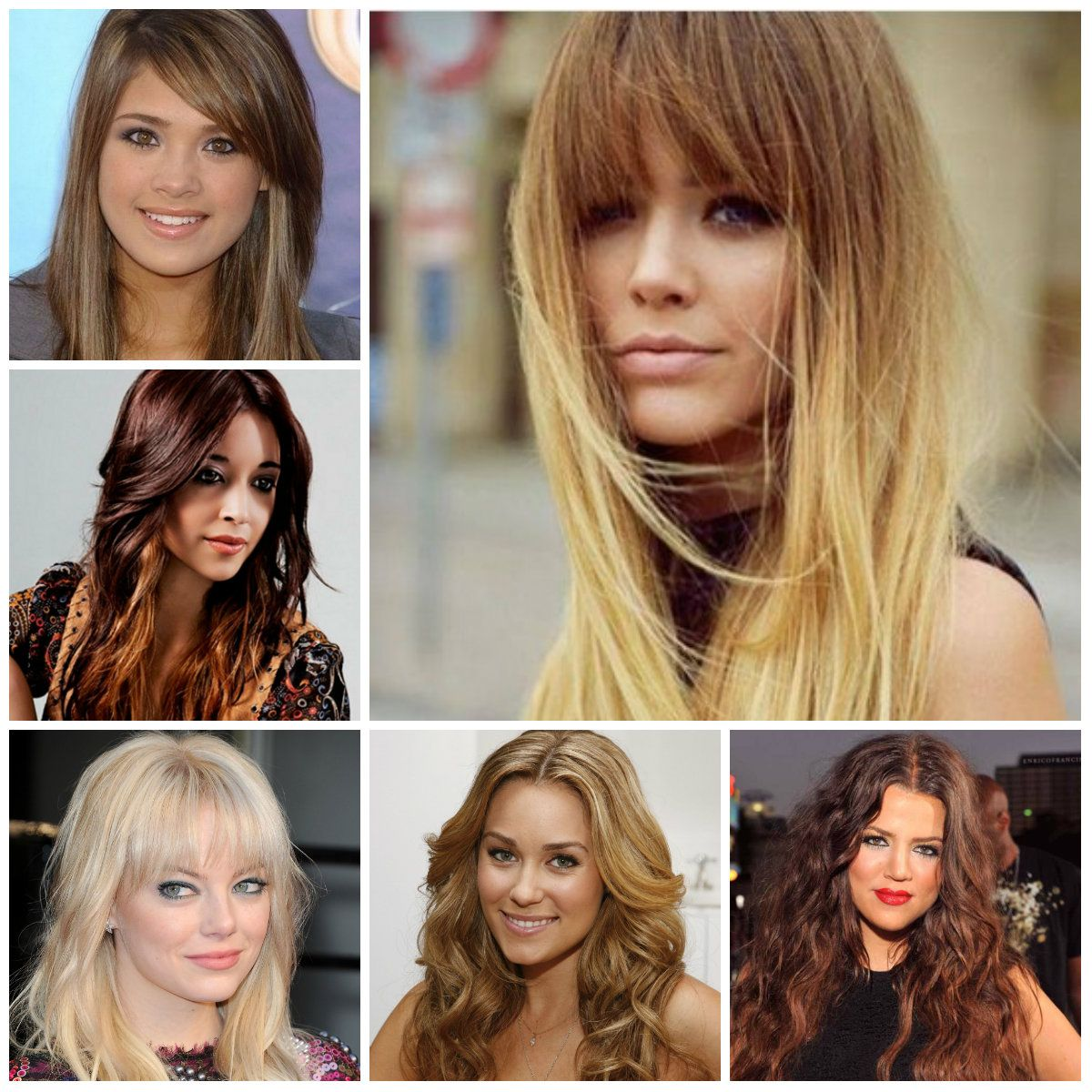 long layered hairstyles with bangs | trendy hairstyles 2015