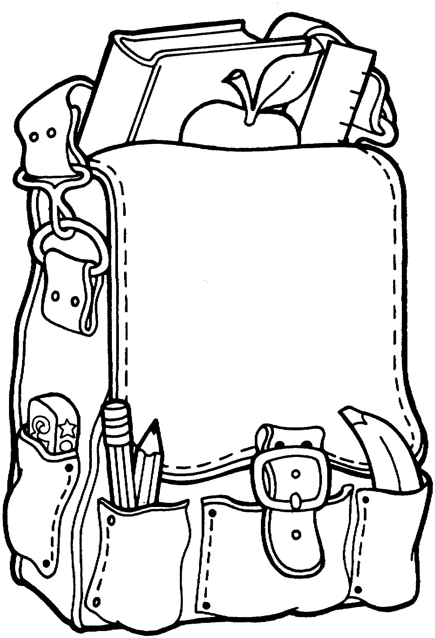 Preschool Coloring Pages School