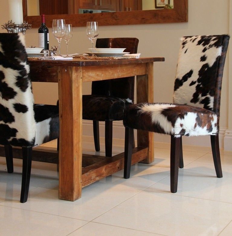 Cowhide Dining Chairs | Cowhide Rugs @ Homes | Dining room ...