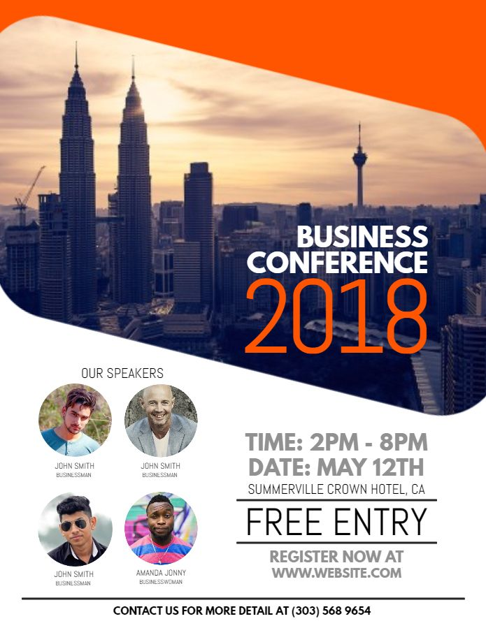 Business Conference Flyer Design Template Conference Poster
