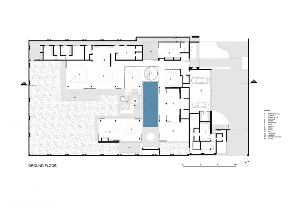 Gallery Of 6th 1448 Houghton Zm Saota 21 Modern Mansion Floor Plans House Floor Plans