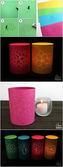 DIY Cute Decoration Desk Lamps from Recycled Containers…