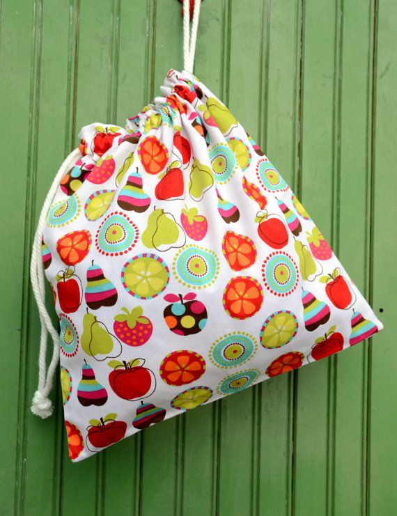 LARGE Reusable Drawstring Bagfor Toys Gifts by LittleBirdsBoutique,
