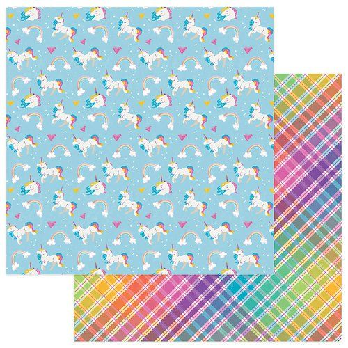 Photo Play Paper - Cake Collection - Rainbow Sprinkles - 12 x 12 Double Sided Paper - Magical
