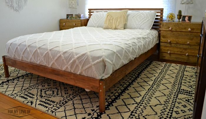 IKEA Tarva Bed Hack Mid Century Style and IKEA Rast Hack West Elm ...