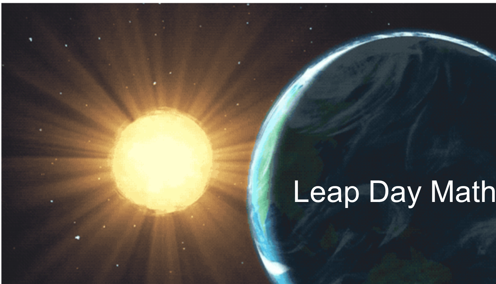 Leap Day Math Lesson Student Worksheet And Teacher