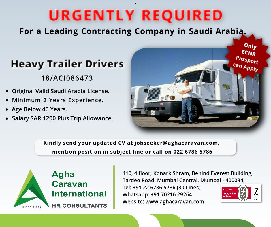 UrgentlyRequired, Heavy #Trailer #Driver for a Leading Company in