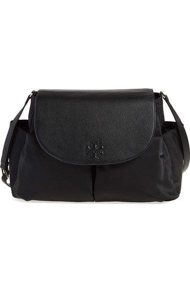 a0c2630118510 TORY BURCH  Thea  Messenger Leather   Nylon Baby Bag.  toryburch  bags  baby  bags  leather  nylon  lining