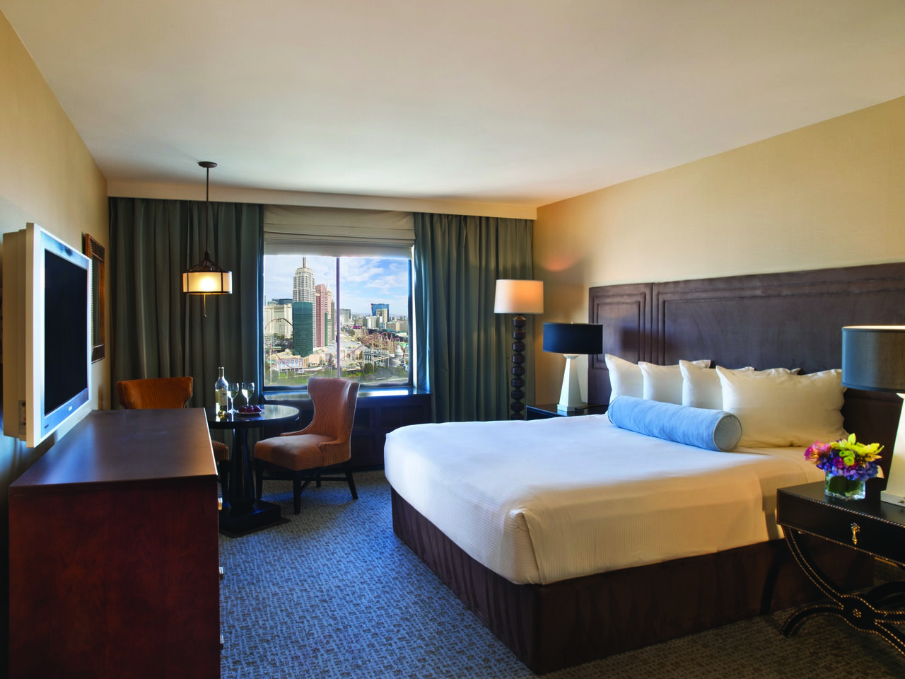 Contemporary Tower King Room Excalibur Hotel Las Vegas