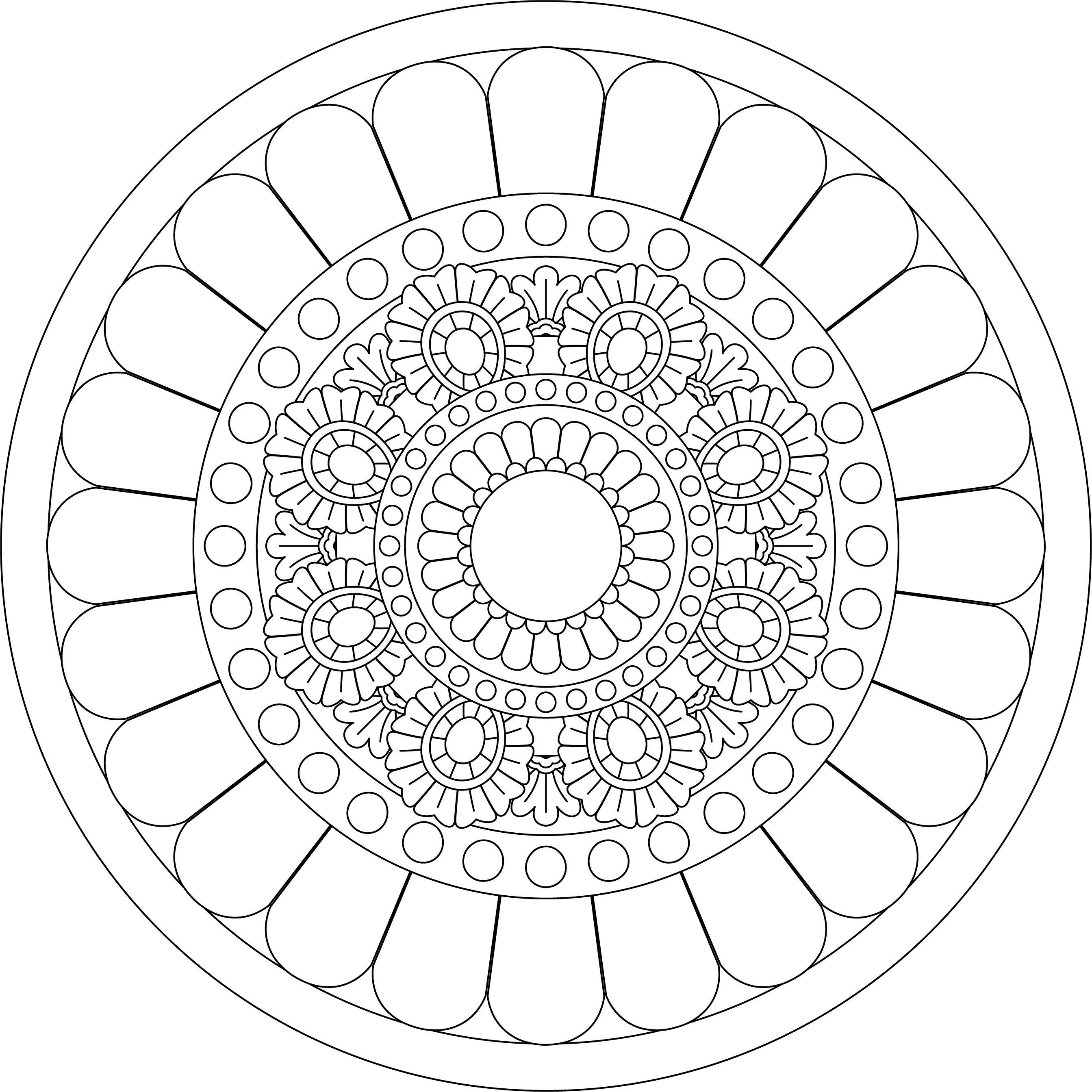Pin By Binder On Mandala Coloring