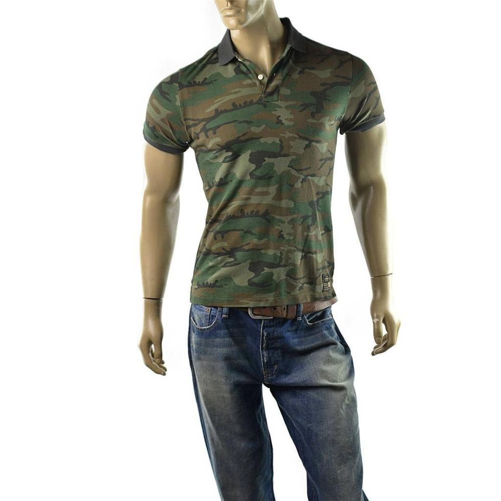 Denim supply ralph lauren polo shirt mens rugged and for Camo polo shirts for men