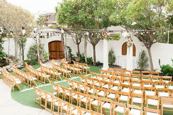 Chic Garden Wedding | Wedding venues beach, Wedding ...