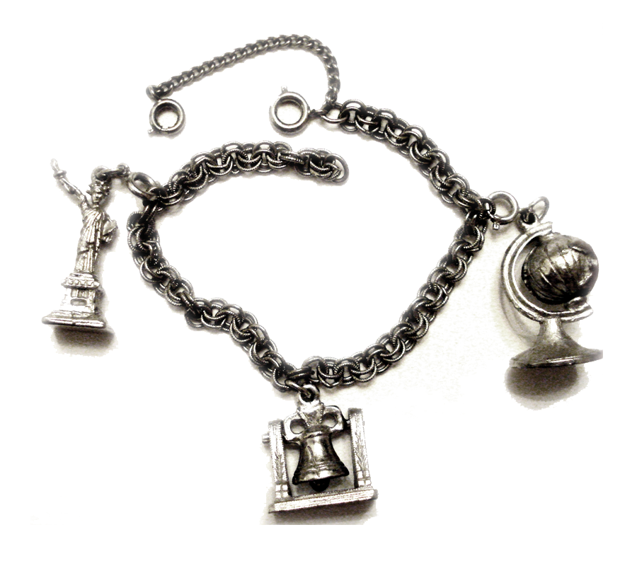 New York City Charm Bracelet From 1969 This Vintage Has Patriotic Themed Charms Including Nyc Statue Of Liberty C1969