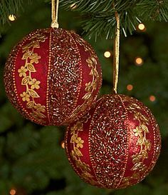 christmas red gold ornaments