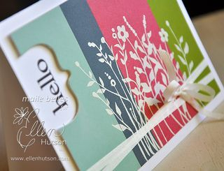 heat-embossed Color Blocking tutorial - with Maile Belles via the CLASSroom