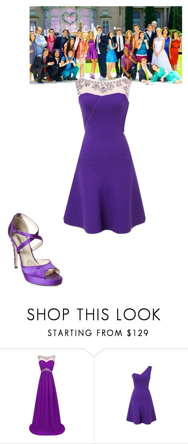 """violetta"" by maria-look ❤ liked on Polyvore featuring Paul Frank, Roland Mouret, Brian Atwood, women's clothing, women, female, woman, misses and juniors"