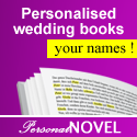 A unique gift - a romance novel, detective story or coffee table book with your names on every single page