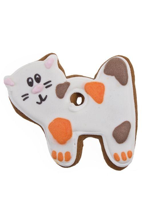 Сувенир пряник праздничный имбирный Кошка  за 280 руб. Артикул: 82642 Дл=9см, трехцветный| Красный Куб