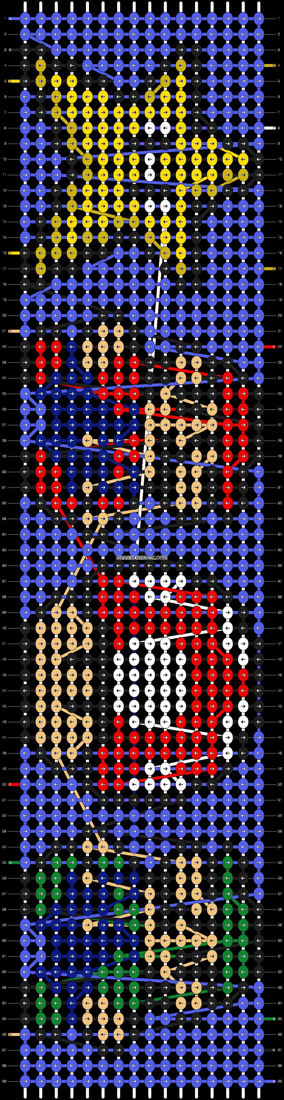 Alpha Pattern #8487 Added By Emmie207  Diy Intermediate Mario Bros  Nintendo Friendship Bracelet