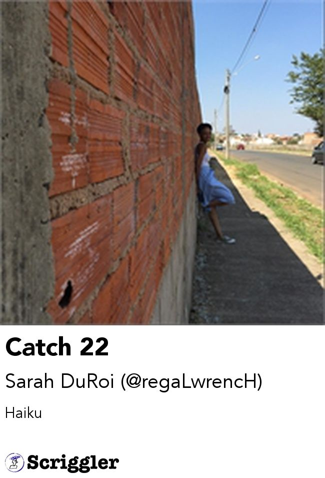 Catch 22 by Sarah DuRoi (@regaLwrencH) https://scriggler.com/detailPost/story/51895 Haiku