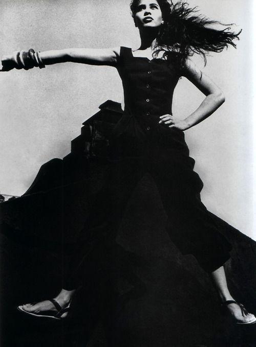 Marina Spadafora, Mirabella magazine, June 1989. Photograph by Max Vadukul.