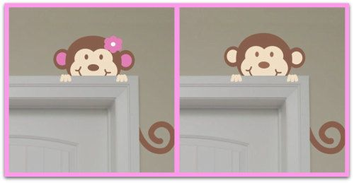 Girl monkey or boy monkey for the door!! Cuteness!! | Nursery ideas | Pinterest | Monkey Girls and Babies  sc 1 st  Pinterest & Girl monkey or boy monkey for the door!! Cuteness!! | Nursery ideas ...