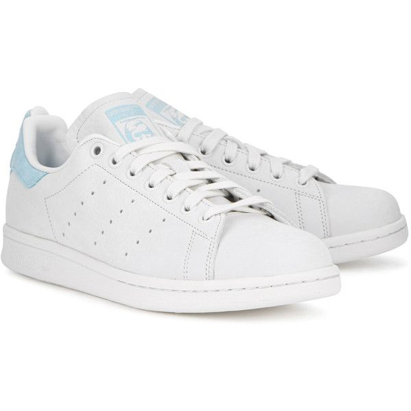 d7cd0b472 Adidas Originals Stan Smith Off White Nubuck Trainers ($110) ❤ liked on  Polyvore featuring shoes, sneakers, round cap, off white sneakers, laced  sneakers, ...