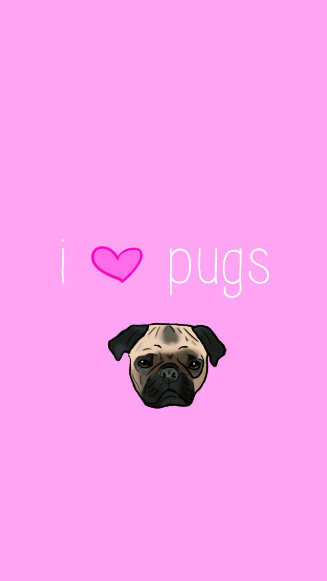 Puggle Wallpaper For Iphone Pugs Swag Cute Pink Pug