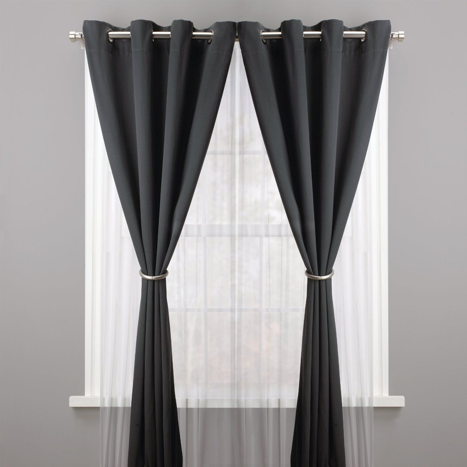 Amazon Umbra Halo Drapery Holdback Nickel Curtain Holdback