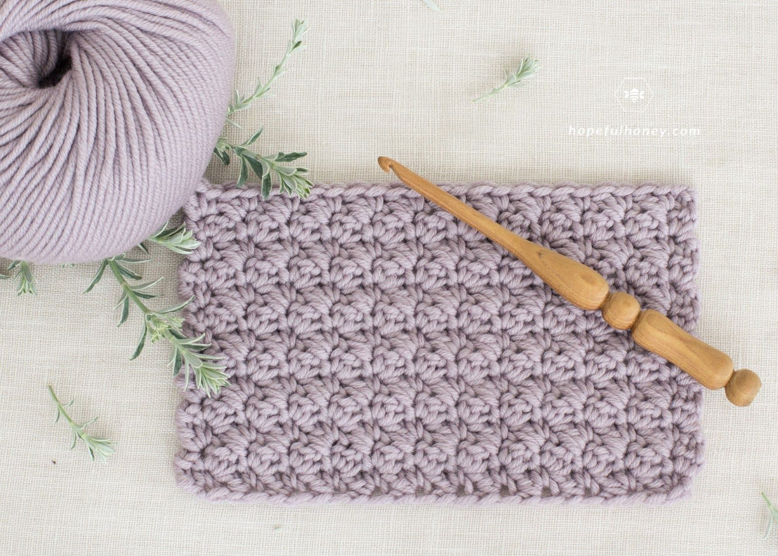 How To Crochet The Modified Sedge Stitch - Tutorial by