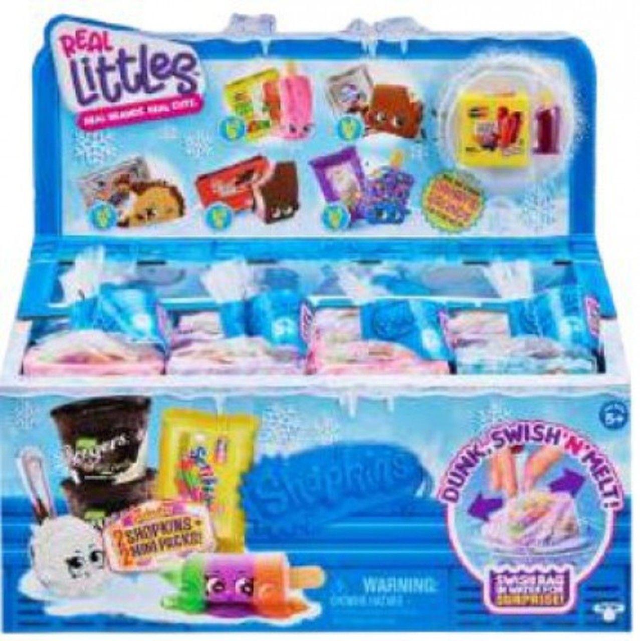 2 Lil Shopper Packs REAL LITTLES Season 13 Frozen Brands 16 Shopkins 16 Minis
