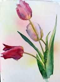 watercolor tulips tattoos - Google Search