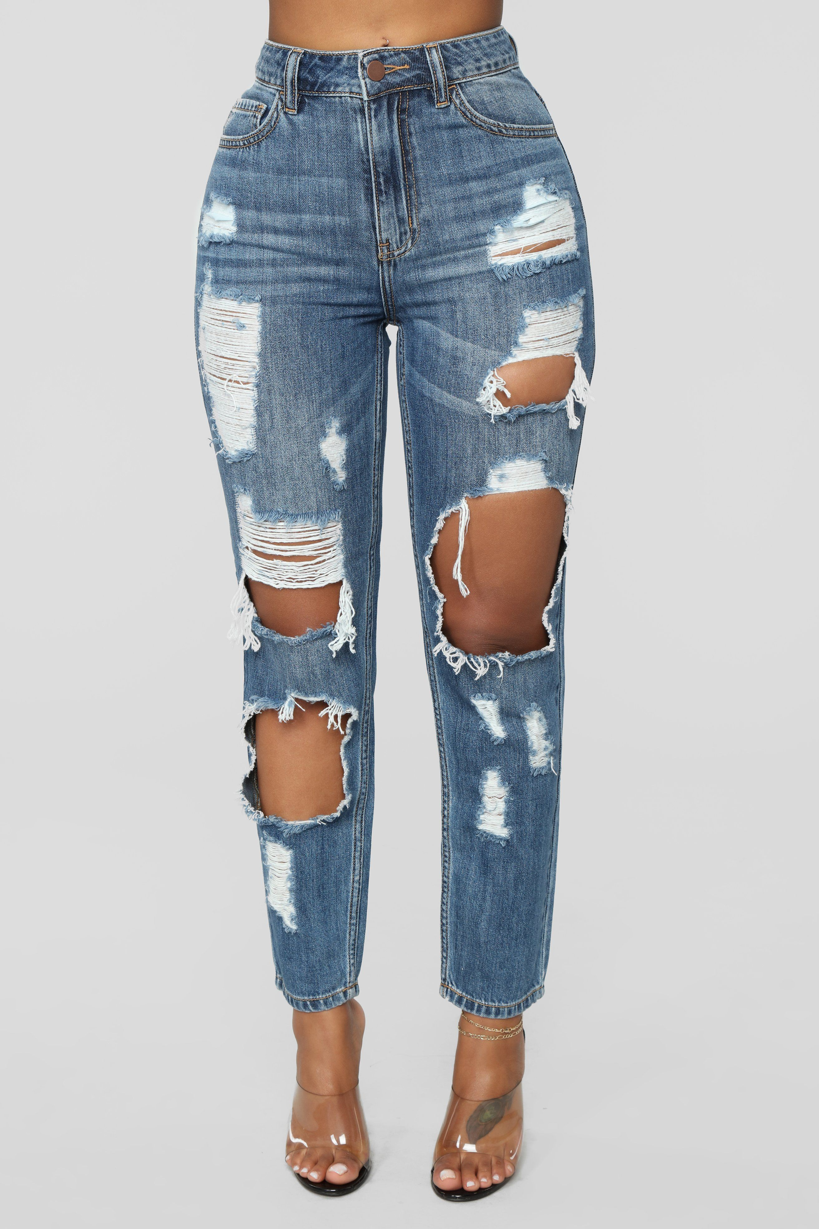 Womens Boyfriend Mid Rise Ripped Jeans find
