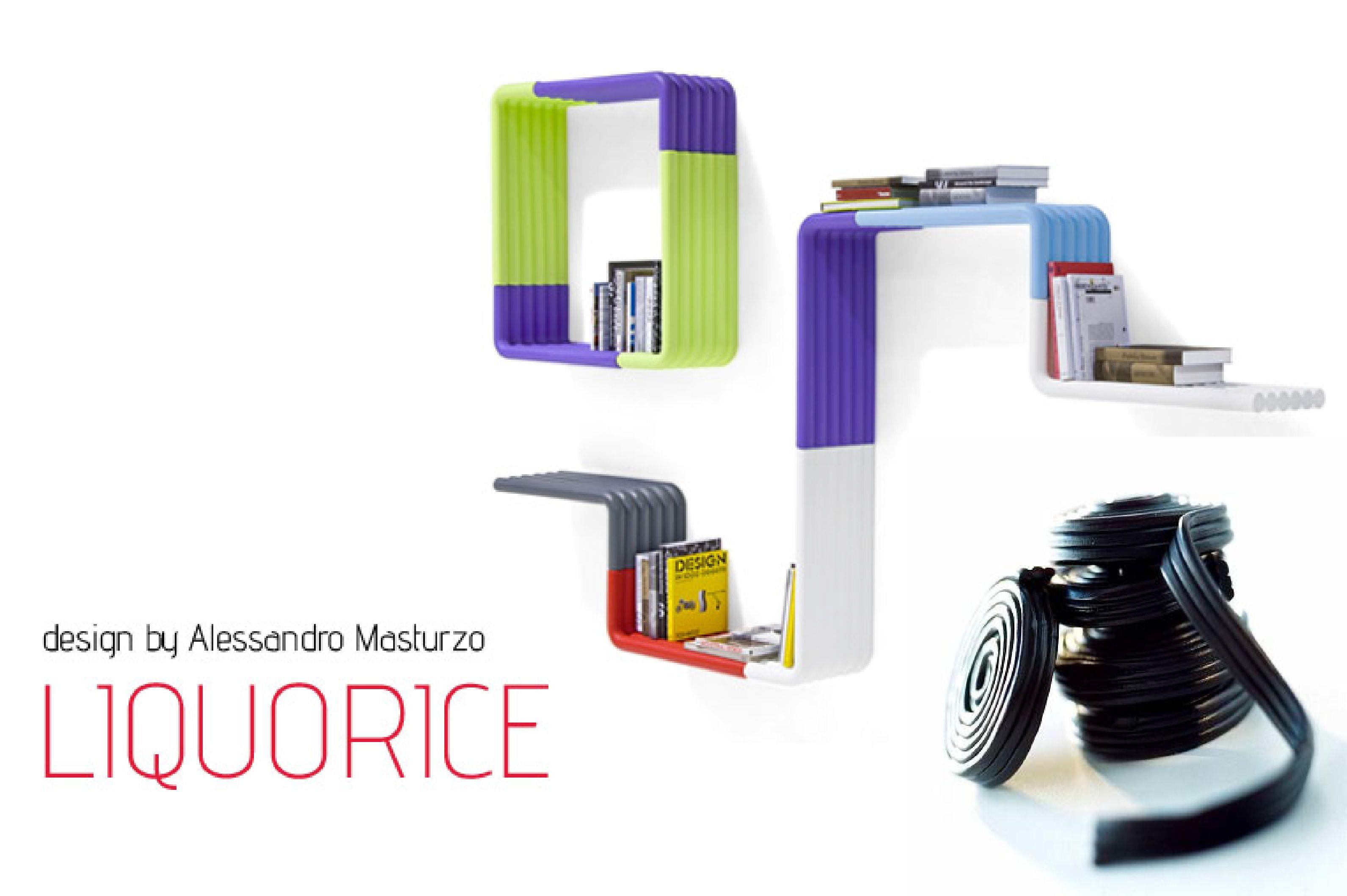 #mensola #liquorice di B-LINE #design