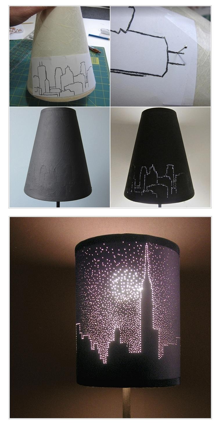 Silhuet-lampeskærm
