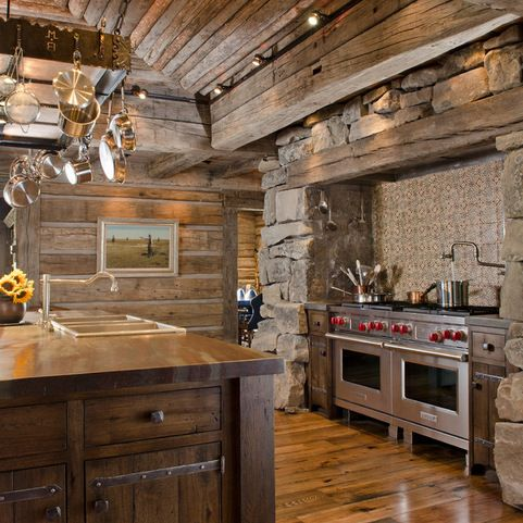 log home kitchen designs log cabin ceiling fans design ideas pictures remodel and 7155