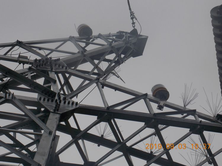 Aircraft Warning Light System For 550kv High Voltage Power Line Transmission Tower In 2020 Warning Lights High Voltage Transmission Tower