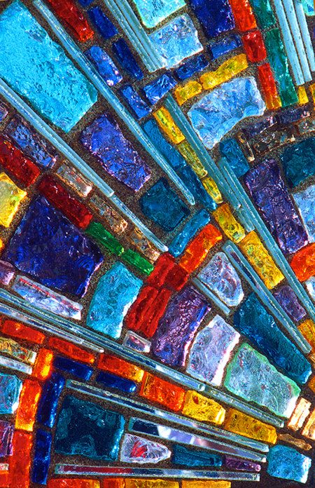 Abstract Art Photography Print  stained glass red by Abstractology, $20.00