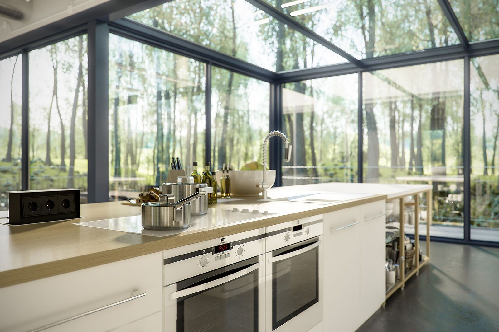 Related image | Greenhouse Home | Pinterest | Conservatories, Kitchens and Greenhouse  kitchen