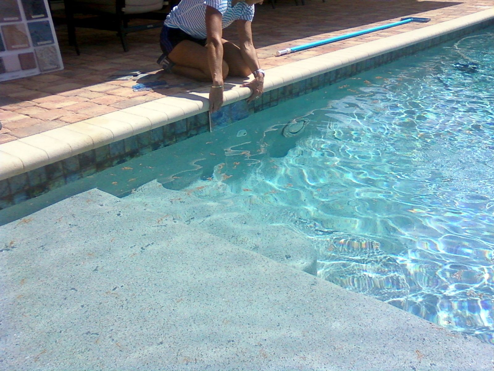 Image result for waterline tile ideas Patio Ideas